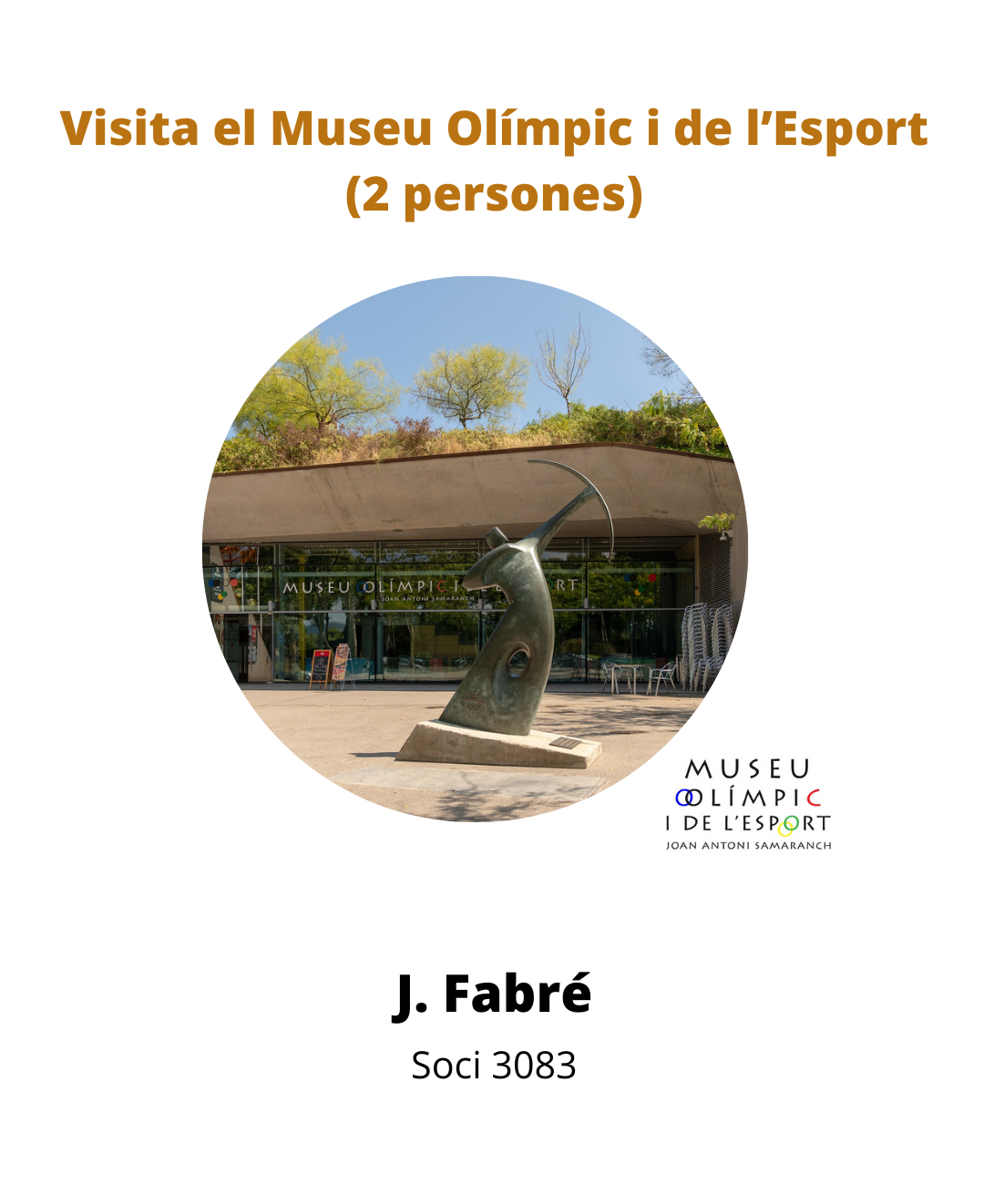 Sorteig Visita al Museu Olímpic